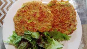 Galettes végétales aux flocons de Quinoa