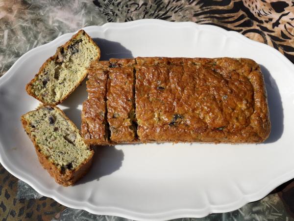 cake courgettes et amandes